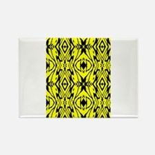 Yellow and Black Design Rectangle Magnet