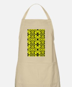 Yellow and Black Design Apron