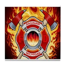 SAGINAW MI FD Tile Coaster