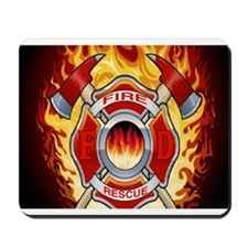 FLAMING FIRE RESCUE Mousepad