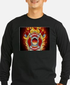 FLAMING FIRE RESCUE T