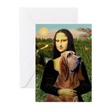 Mona & her Bloodhound Greeting Cards (Pk of 10