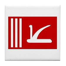 Jammu and Kashmir Flag Tile Coaster