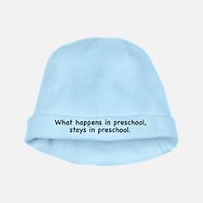 What happens in preschool, st baby hat