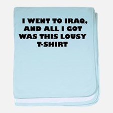 I went to Iraq and All I got baby blanket