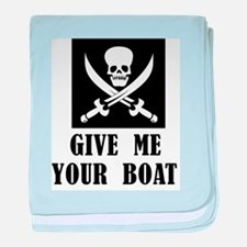 Give Me Your Boat baby blanket