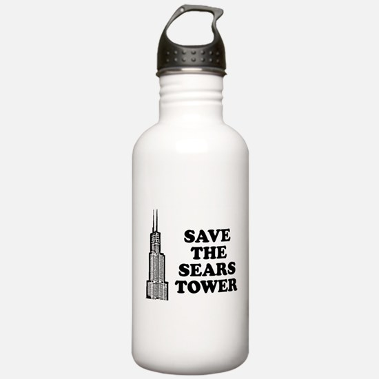 Save The Sears Tower Water Bottle