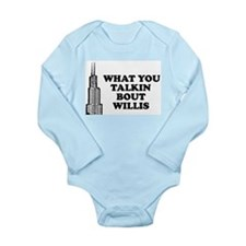 What You Talkin Bout Willis Long Sleeve Infant Bod