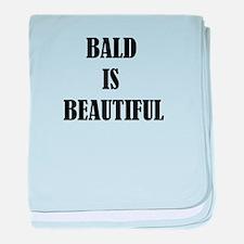 Bald is Beautiful baby blanket