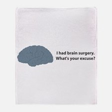 I had brain surgery. What's Throw Blanket