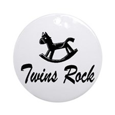 Twins Rock Ornament (Round)