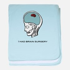 I had brain surgery baby blanket