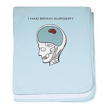 I had brain surgery baby blanket