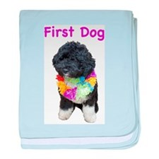 Bo First Dog baby blanket