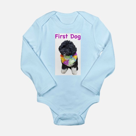 Bo First Dog Long Sleeve Infant Bodysuit