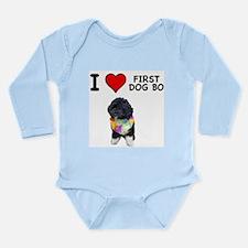 I Love First Dog Bo Long Sleeve Infant Bodysuit