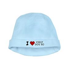 I Love First Dog Bo baby hat
