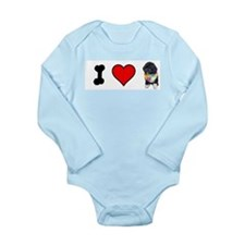 I Love Bo Long Sleeve Infant Bodysuit