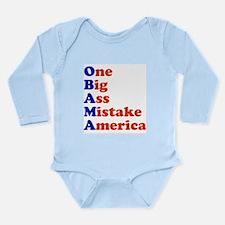 Obama: One Big Ass Mistake Am Long Sleeve Infant B