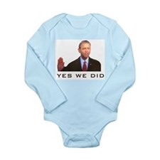 Obama Yes We Did Long Sleeve Infant Bodysuit