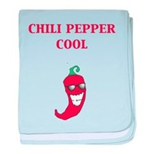 Chili Pepper Cool baby blanket