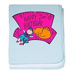 Happy 2nd Birthday baby blanket