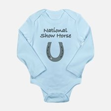 national show horse Long Sleeve Infant Bodysuit
