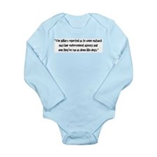 The pillars reported us to so Long Sleeve Infant B