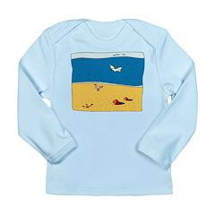 Beach Scene Long Sleeve Infant T-Shirt