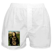 Mona & her Border Terrier Boxer Shorts