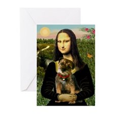 Mona & her Border Terrier Greeting Cards (Package