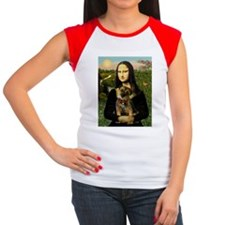 Mona & her Border Terrier Women's Cap Sleeve T-Shi