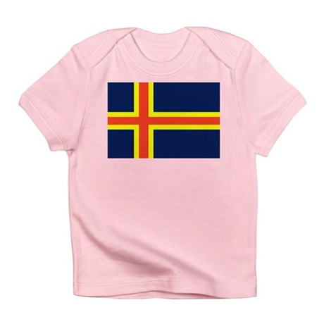 Aland Islands Country Flag Infant T-Shirt