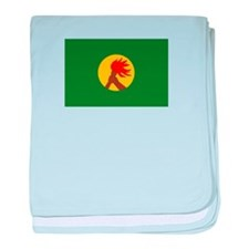 Zaire Flag baby blanket