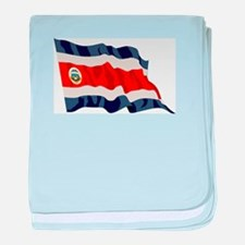 Costa Rica Country Flag baby blanket