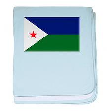 Djibouti Flag baby blanket