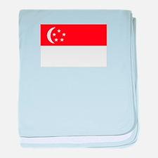 Singapore Flag baby blanket