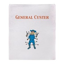 General Custer Throw Blanket