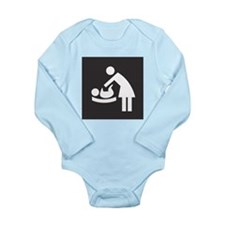 Baby Changing Station Sign Long Sleeve Infant Body