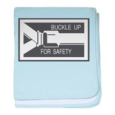Buckle Up For Safety Label baby blanket