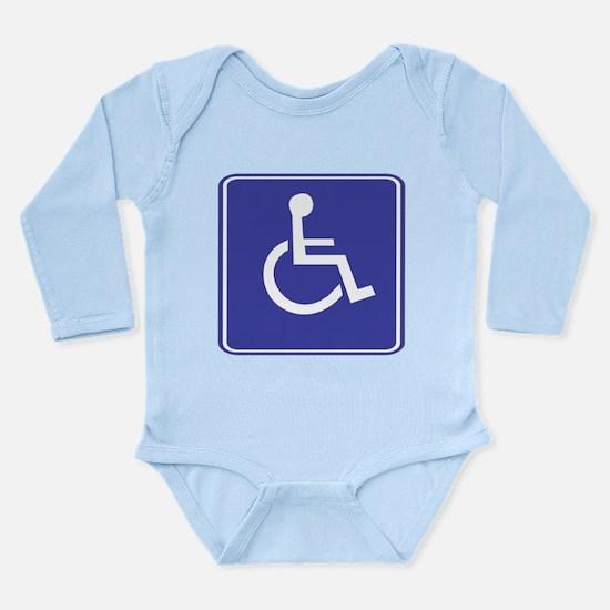 Handicapped General Sign Long Sleeve Infant Bodysu