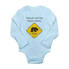 Watch out for Bears Long Sleeve Infant Bodysuit