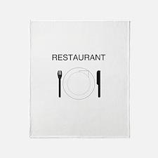 Restaurant Throw Blanket