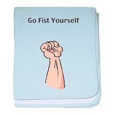 Go Fist Yourself baby blanket