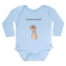 Go Fist Yourself Long Sleeve Infant Bodysuit