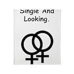 Female Gay Sex Symbol Single Throw Blanket