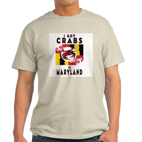 I Got Crabs in Maryland Ash Grey T-Shirt