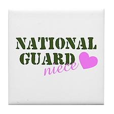 NG Niece Green & Heart Tile Coaster