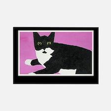 Tuxedo Cat Rectangle Magnet