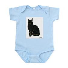 Black Cat Infant Creeper